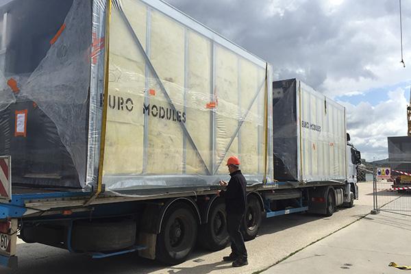 transport des modules par camion