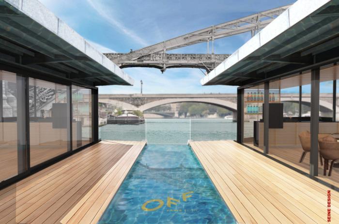 1er hôtel flottant sur la Seine