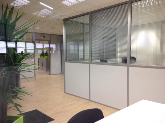 Intérieur bureaux modulaires Tilloc