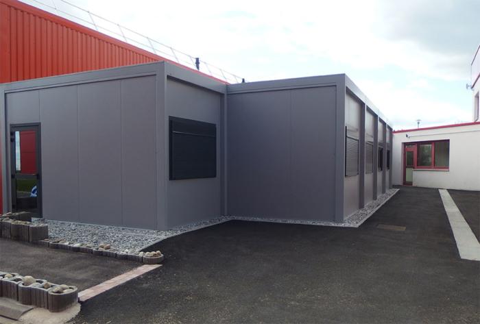 Centre apprentis DUF : toitures mono-pentées