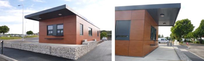 Accueil parking de la gare TGV au Creusot, conception modulaire